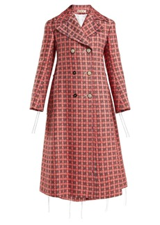 Marni Frayed threads double-breasted tweed coat
