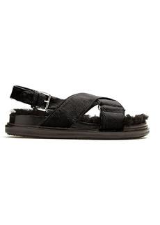 Marni Fur-insole calf-hair sandals