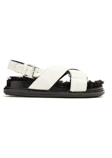 Marni Fur-insole calf-hair sandals