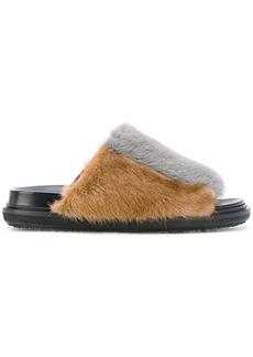 Marni fur sliders - Black