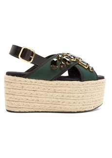 Marni Fusbett neoprene and leather flatform sandals