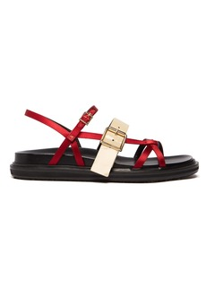 Marni Fussbet satin and patent-leather sandals