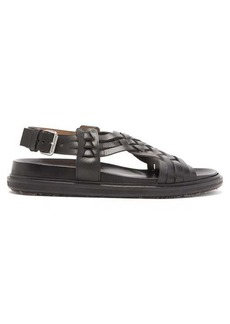 Marni Fussbet woven-leather sandals