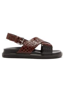 Marni Fussbett crocodile-effect leather sandals