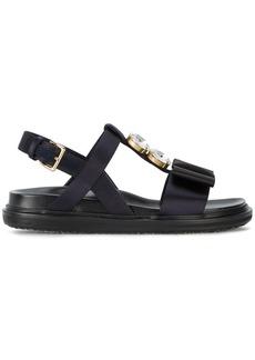 Marni Fussbett crystal embellished sandals - Blue
