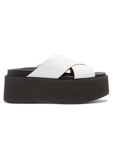 Marni Fussbett flatform leather sandals