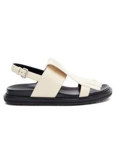 Marni Fussbett fringed slingback leather sandals