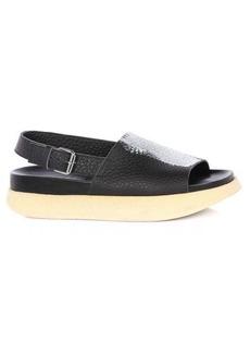Marni Fussbett painted cotton-faille flatform sandals