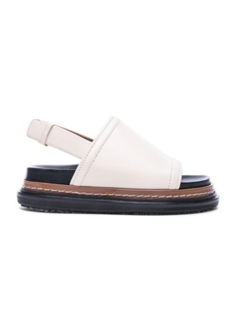 Marni Fussbett Leather Sandals