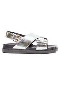 Marni Fussbett metallic-leather slingback sandals