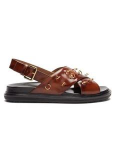 Marni Fussbett patent-leather slingback sandals