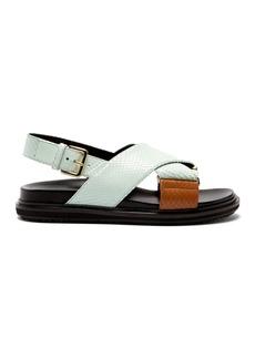 Marni Fussbett python-effect leather sandals