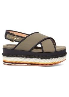 Marni Fussbett slingback neoprene platform sandals
