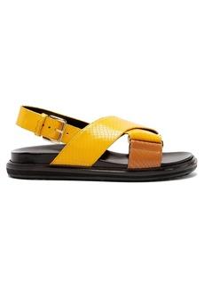 Marni Fussbett snake-effect leather sandals