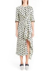 Marni Garland Silk Jacquard Dress