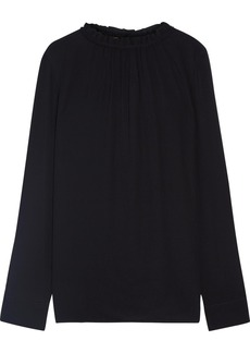 Marni Gathered crepe blouse