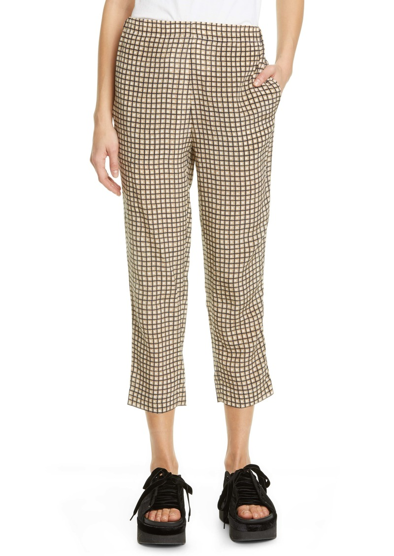 Marni Geo Print Crop Silk Pants