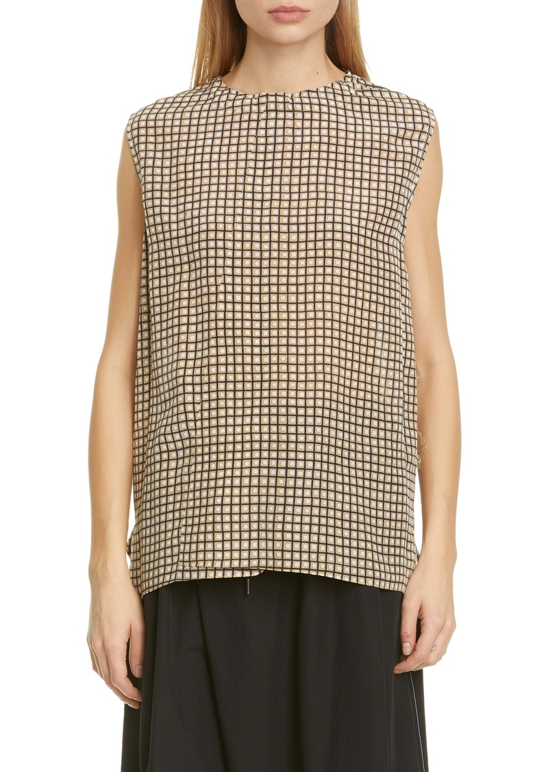 Marni Geo Print High/Low Silk Top