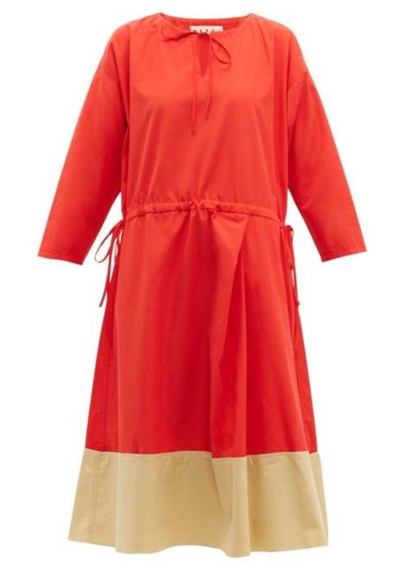 Marni Godet-hem cotton-poplin midi dress