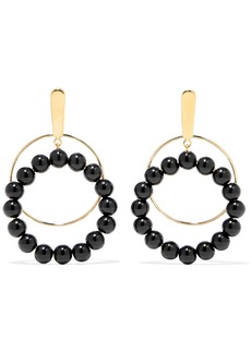 Marni Gold-plated beaded clip earrings