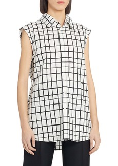 Marni Grid Print High/Low Cotton Tunic