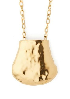 Marni Hammered pendant necklace