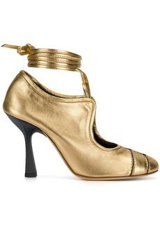 Marni high heel lace-up pumps - Metallic