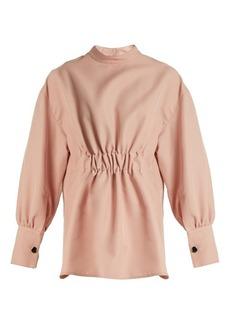 Marni High-neck gabardine blouse