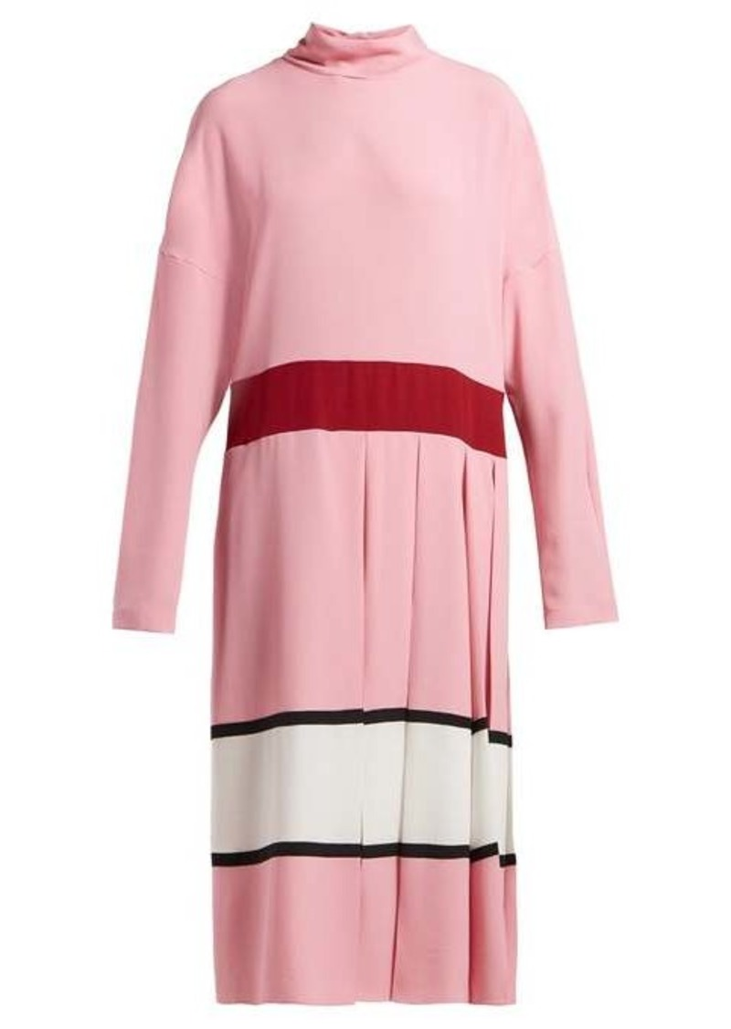 Marni High-neck pleated midi dress