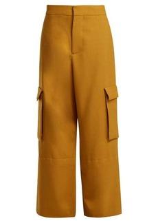Marni High-rise cargo wool trousers