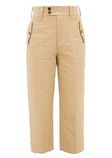 Marni High-rise cropped cotton-blend trousers