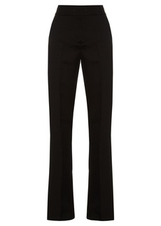 Marni High-rise flared silk and wool-blend trousers