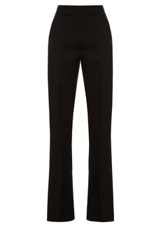 Marni High-rise flared silk and wool-blend trousers