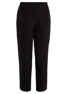 Marni High-rise tapered-leg crepe trousers