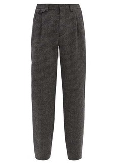 Marni High-rise wool-tweed wide-leg suit trousers