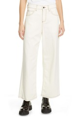 Marni High Waist Ankle Wide Leg Pants (Glass)