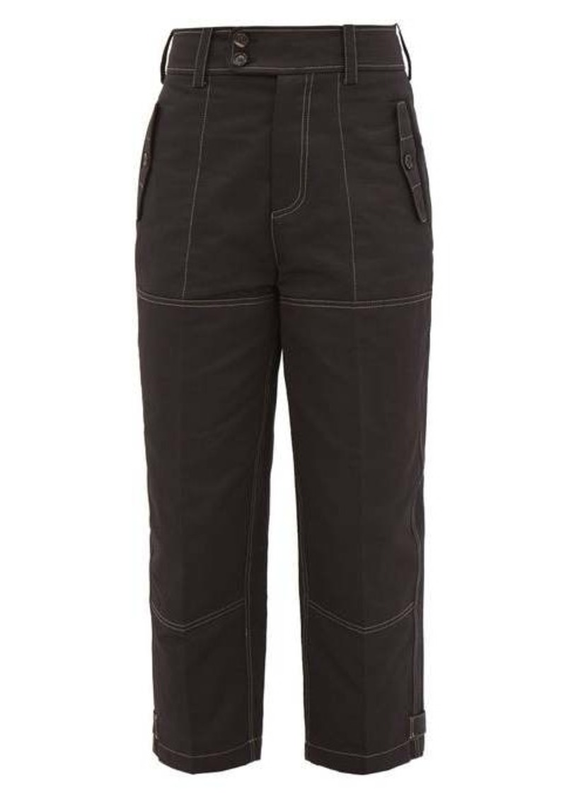 Marni High-waisted cotton-blend cargo trousers