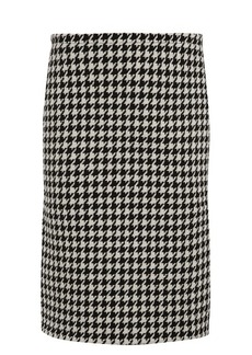 Marni Hound's-tooth wool-blend pencil skirt