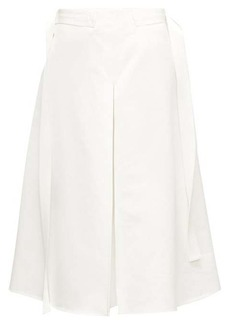 Marni Godet-pleat cotton-sateen midi skirt