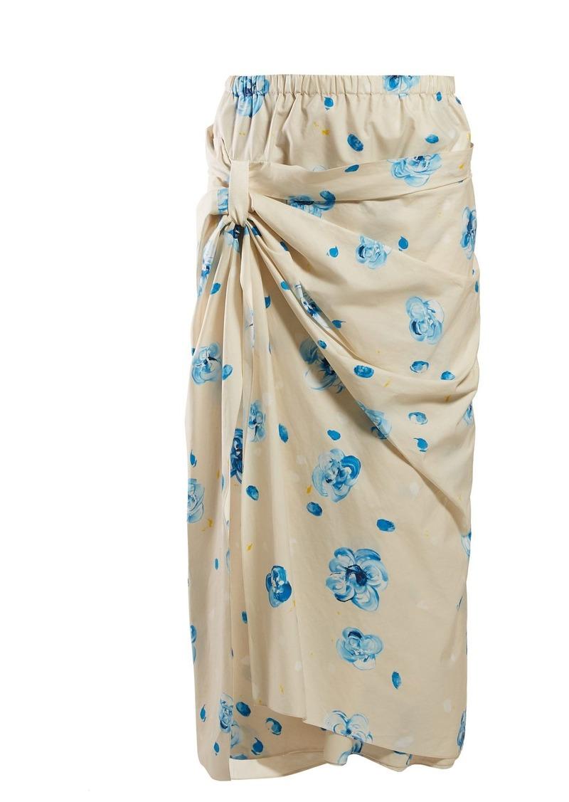 efcd85633 Marni Marni Iride floral-print cotton midi skirt   Skirts