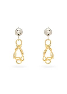 Marni Knotted-pendant clip earrings