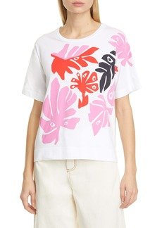 Marni Leaf Graphic Cotton Tee
