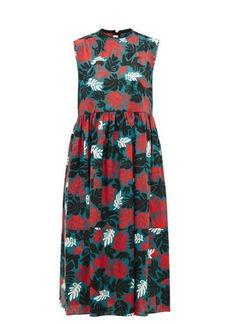 Marni Leaf-print canvas dress