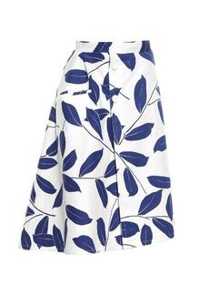Marni Leaf-print midi skirt