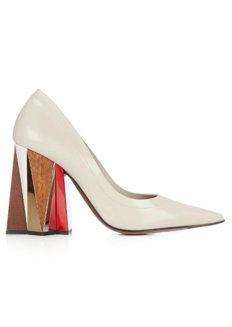 Marni Leather block-heel pumps