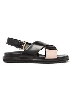 Marni Leather sling-back sandals