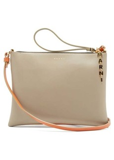 Marni Logo-plaque small leather cross-body bag