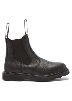Marni Logo-tab leather chelsea boots
