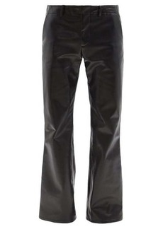 Marni Low-rise flared faux-leather trousers