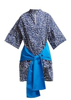 Marni Lylee floral-print cotton-poplin tunic top